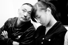 Pensive man in Beijing subway