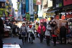 Une foule a Myeongdong