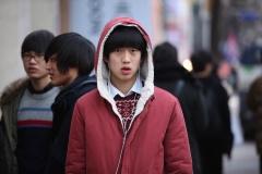 Un etudiant a Myeongdong